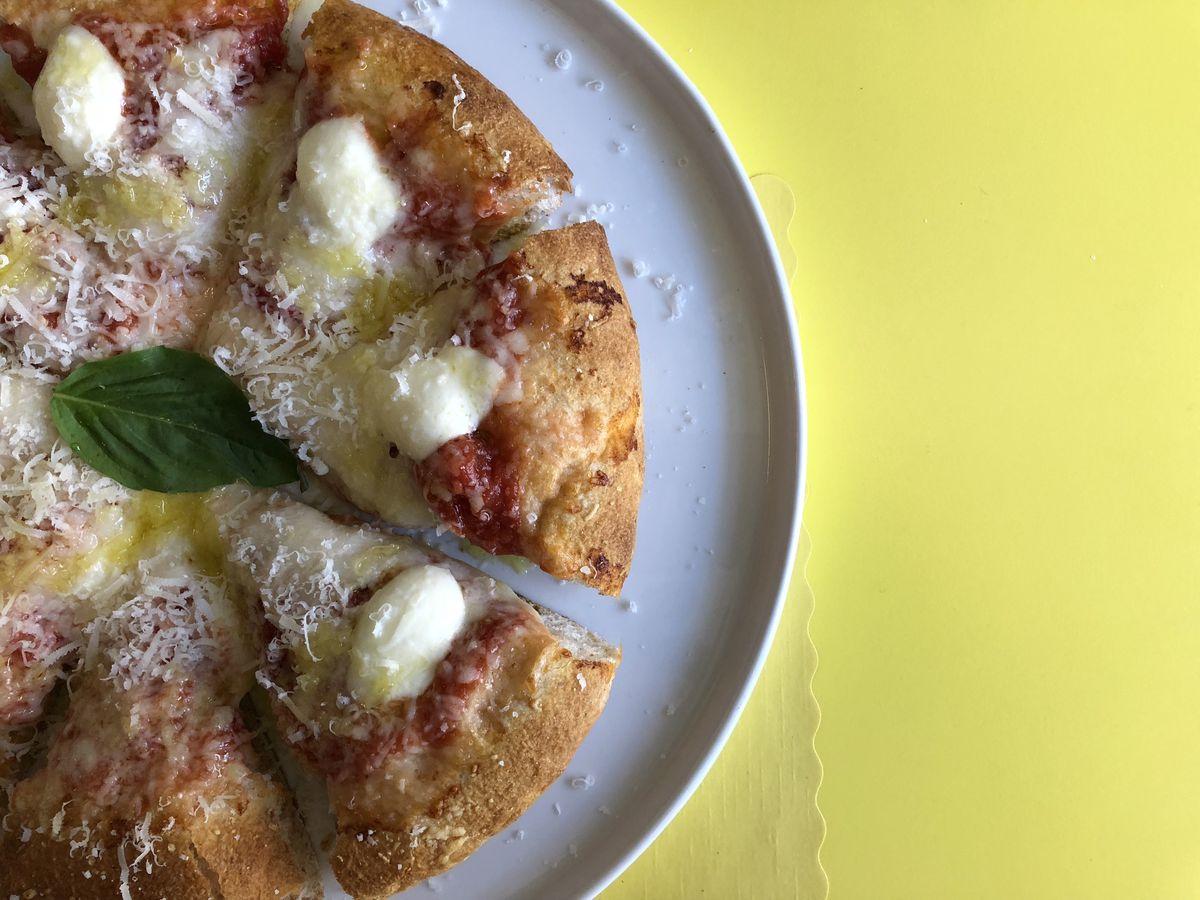Margherita pizza at Mother Dough