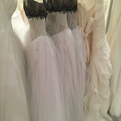 Black and white bridal gown, $1,500