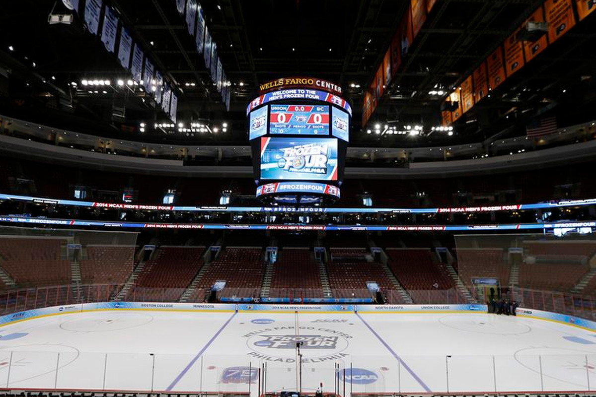 The 2014 Frozen Four was at the Wells Fargo Center in Philadelphia, Pa.