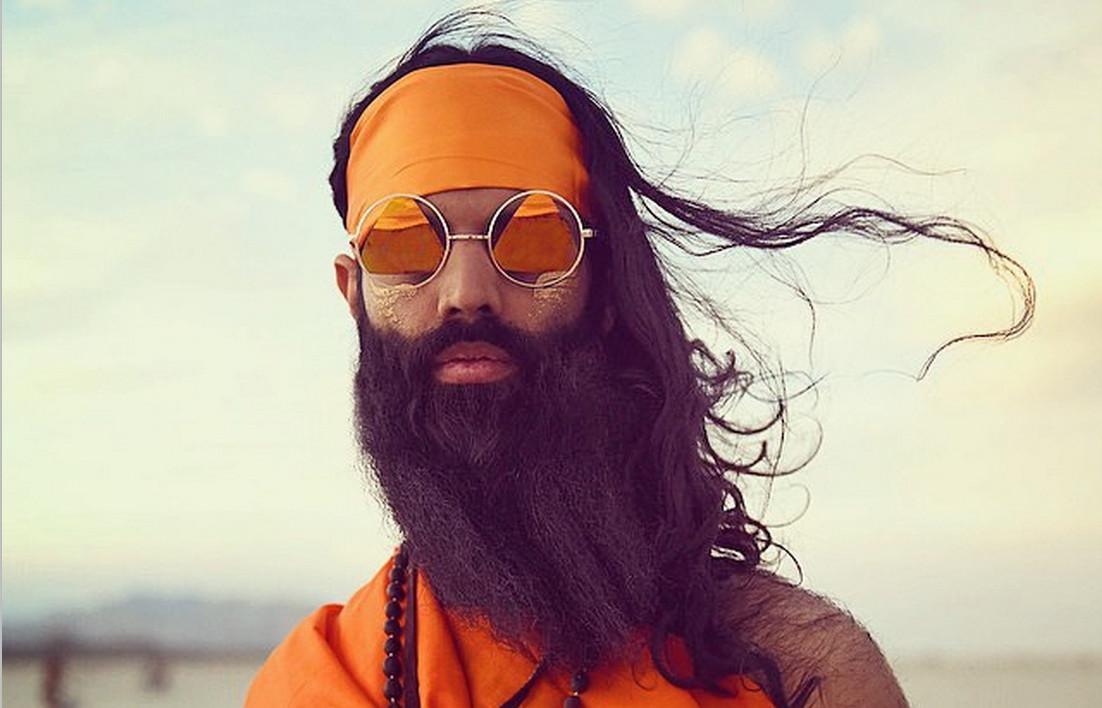 Rameet Chawla's beard on full display at Burning Man