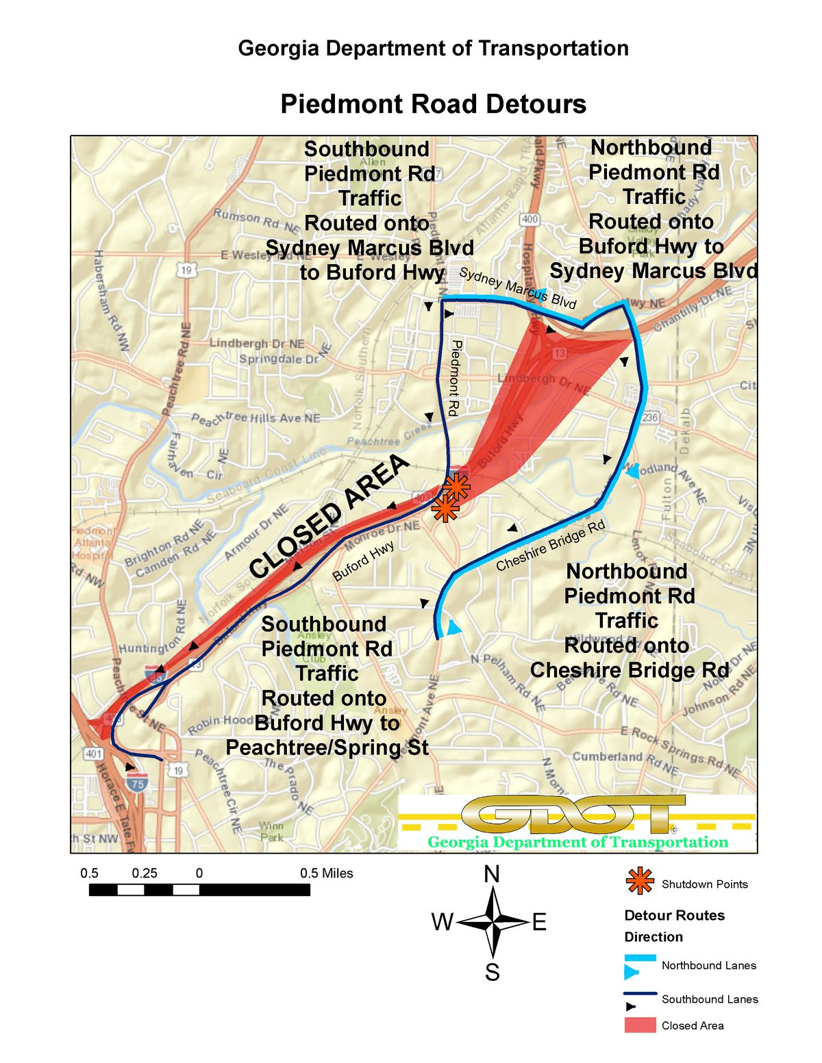I 85 Collapse Atlanta Map.Atlanta S Roads Already Needed Help Then A Bridge Collapsed Vox