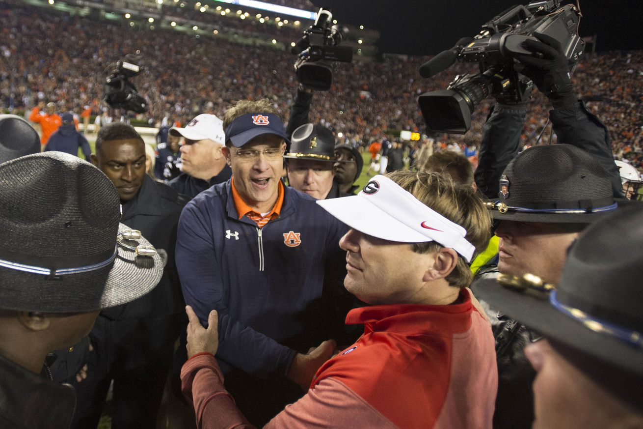 usa today 10404891.0 - 4 things about Auburn and Georgia maybe moving up their game