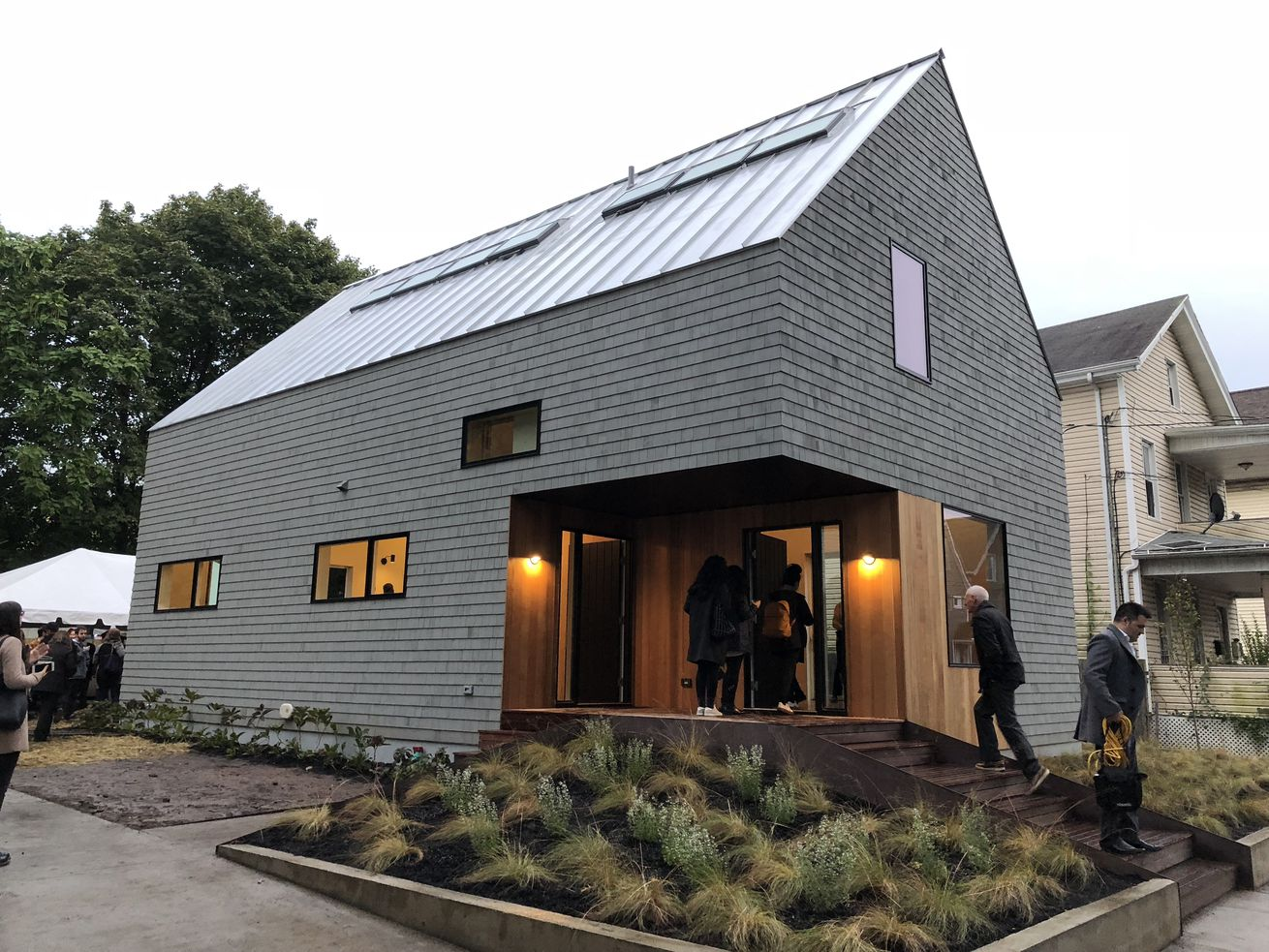 Yale architecture students built this innovative timber home for the formerly homeless