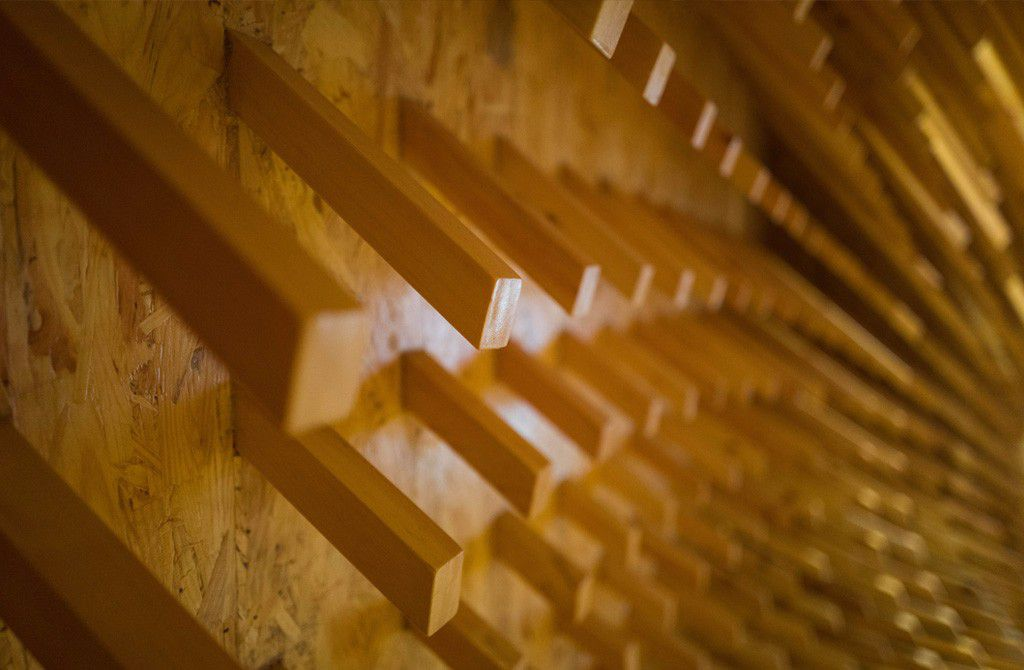 Close up of wooden sticks