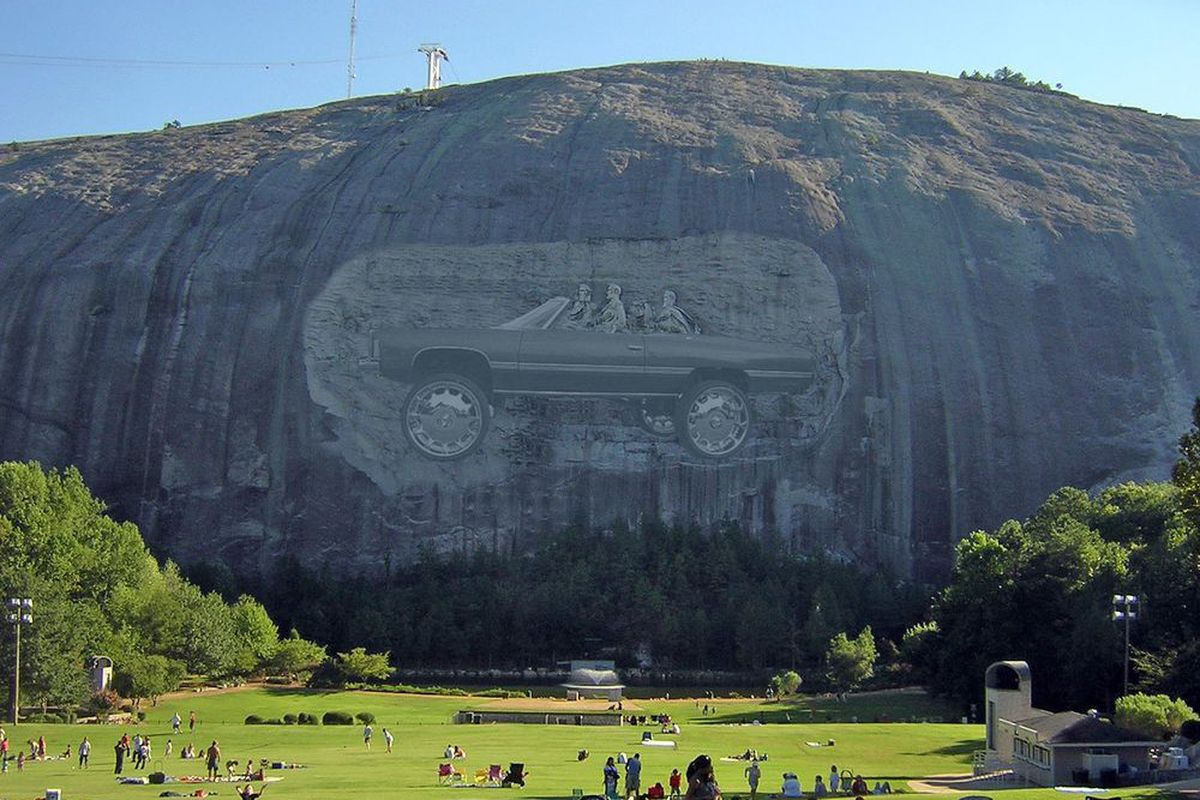 Unsurprisingly atlanta s stone mountain carving is center