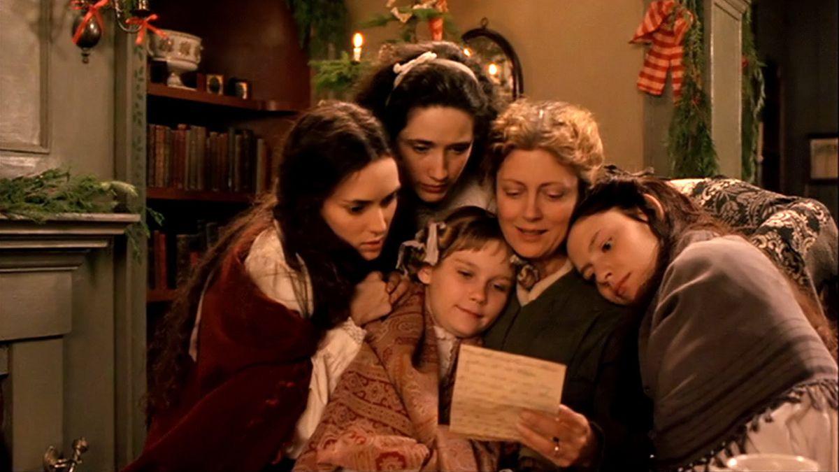 Winona Ryder, Trini Alvarado, Kirsten Dunst, Susan Sarandon, and Claire Danes in Little Women