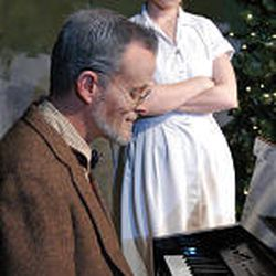 """David Tinney and Korianne Johnson in Provo Theatre Company's stage version of Michael McLean's """"The Forgotten Carols."""""""