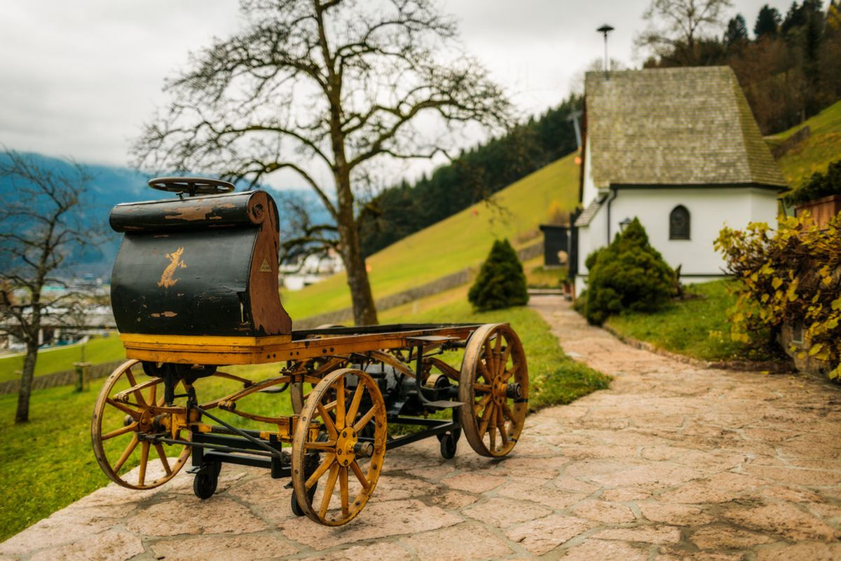 Porsche\'s first vehicle found in shed after a century - The Verge