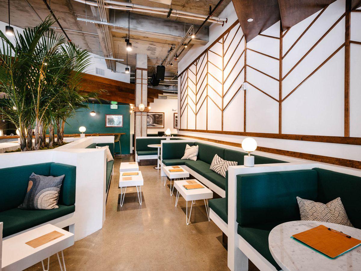 Miami Art Deco–inspired bar interior