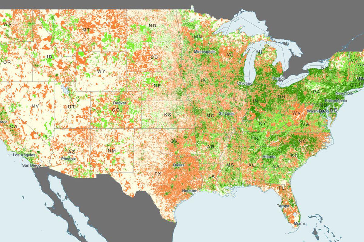 FCC broadband map