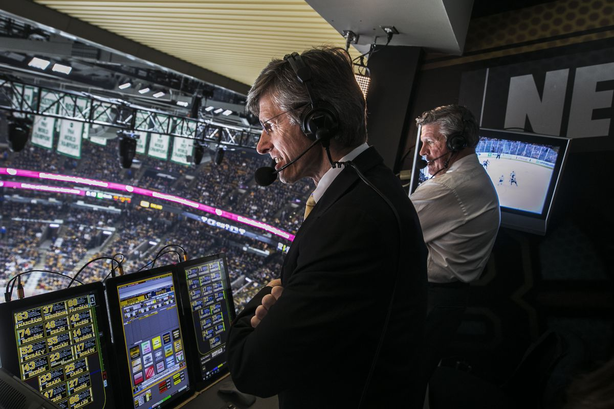 A Look Behind The Scenes At A NESN Bruins Broadcast