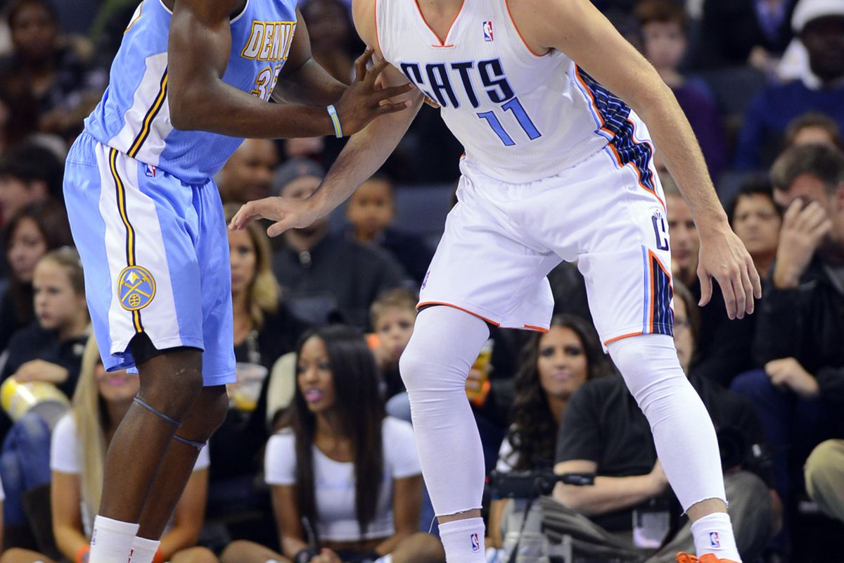 Faried and McRoberts fight for position