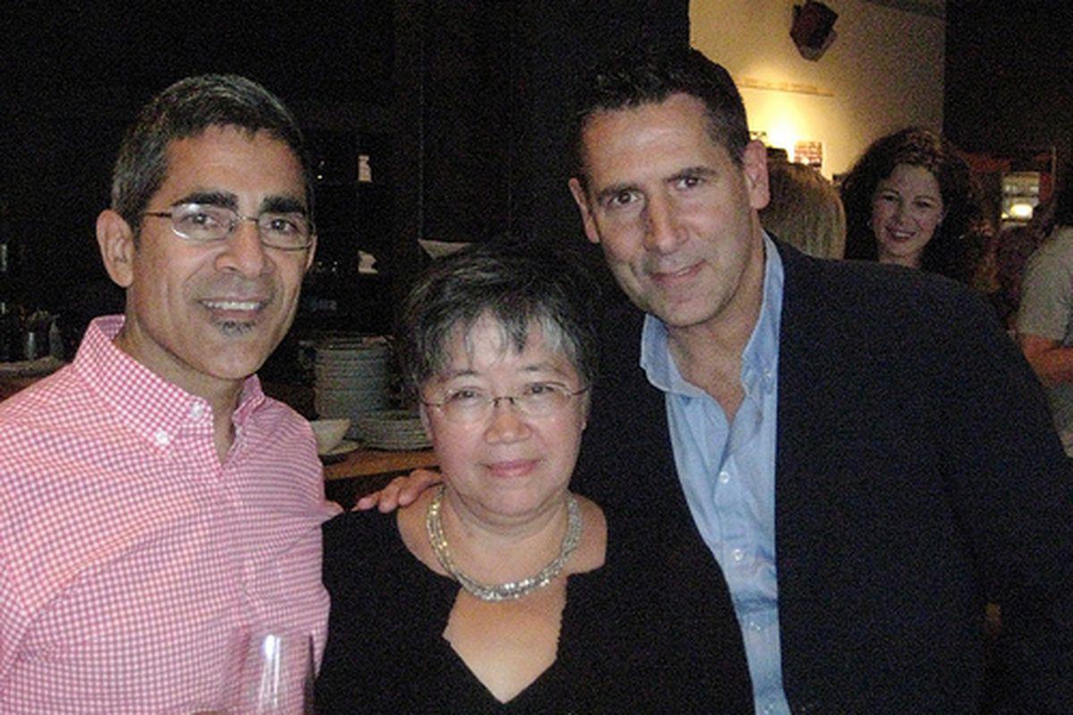 "Image of Christopher Israel, Monique Siu and Bruce Carey courtesy <a href=""link""></a><a href=""http://www.byronbeck.com/home/595-celebrating-zefiros-20th-anniversary-at-clarklewis-.html"">Byronbeck.com</a>"