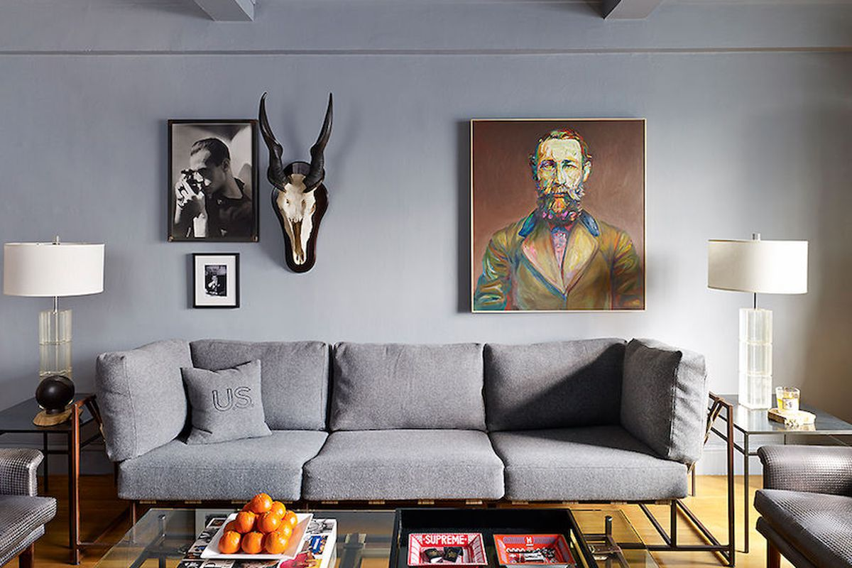 """Inside Nick Wooster's apartment. Image via <a href=""""http://scenemag.com/2014/03/house-of-style-at-home-with-sartorial-star-nick-wooster/"""">Scene</a>."""