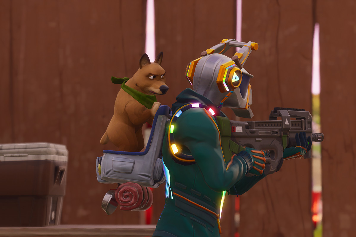 fortnite now lets you pet the dog - all the pets in fortnite