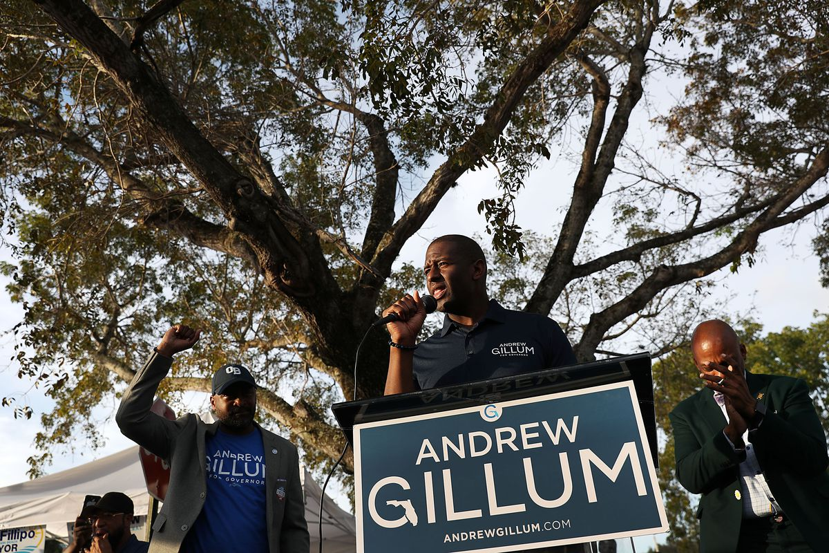 Democratic Florida Gubernatorial Candidate Andrew Gillum Campaigns In Miami Gardens