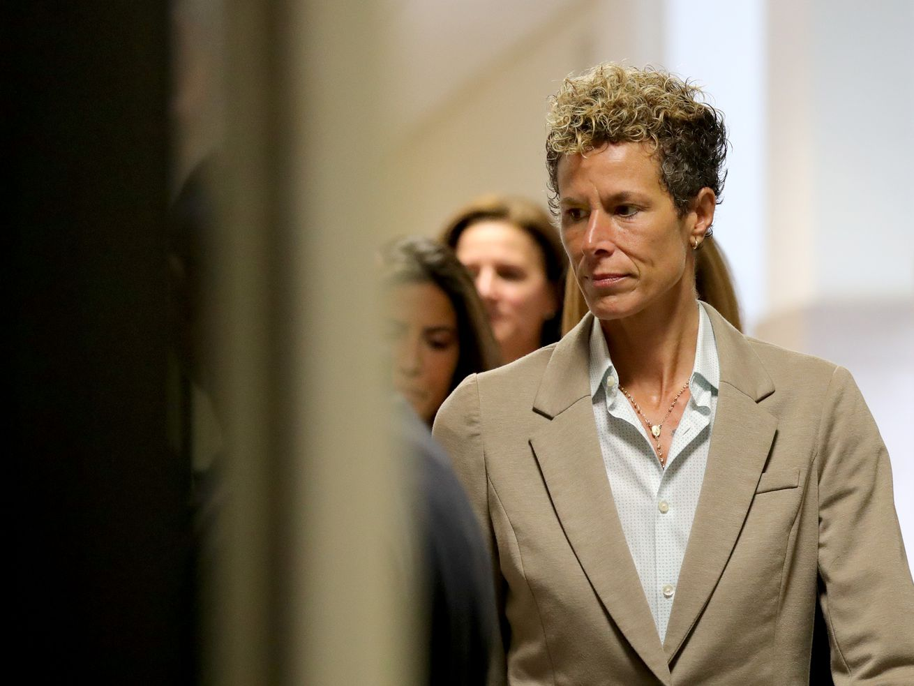 Andrea Constand arrives at Bill Cosby's sentencing hearing in Norristown, Pennsylvania, on September 24, 2018.