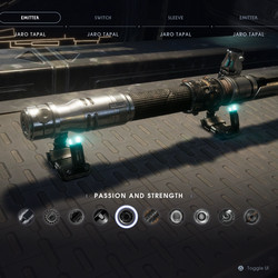 Passion and Strength lightsaber emitter