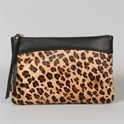 Leopard Jet Pouch, Kaia Peterka, $195<br />Jet around with this modern Kaia Peterka pouch that holds your keys, cards, makeup, jewelry and other little treasures. Whether zipping through errands or using inside another bag, this pop piece will add fun to
