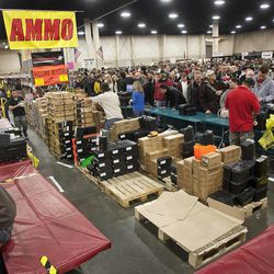 An enormous variety of ammunition was available for sale to entrants at the South Towne Expo Center during the 2013 Rocky Mountain Gun Show, Saturday, Jan. 5, 2013.