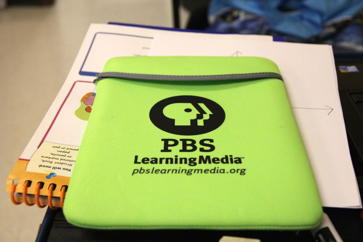 The Android tablet Clark received from the PBS LearningMedia digital innovator program.
