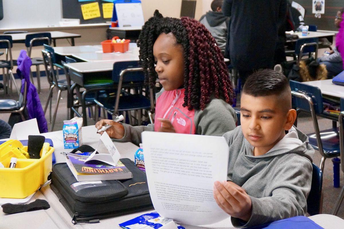 Students in Chapelwood Elementary School