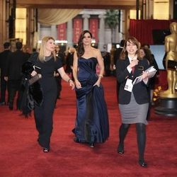 """""""<strong>Sandra Bullock</strong>. This <strong>Alexander McQueen</strong> look was the best I've seen her look in a while! There is something about Alexander McQueen that just seems be a perfect fit for Sandra. First off, the dress color is exquisite. The"""
