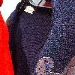 A vintage Christian Dior knit poncho.