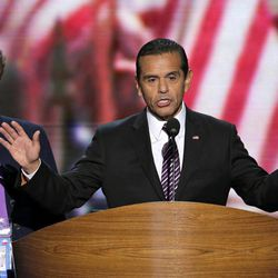 Los Angeles Mayor and Democratic Convention Chairman Antonio Villaraigosa calls for a vote to amend the platform at the Democratic National Convention in Charlotte, N.C., on Wednesday, Sept. 5, 2012.