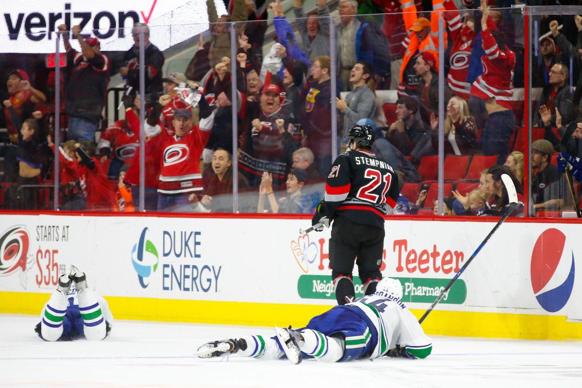 NHL: Vancouver Canucks at Carolina Hurricanes