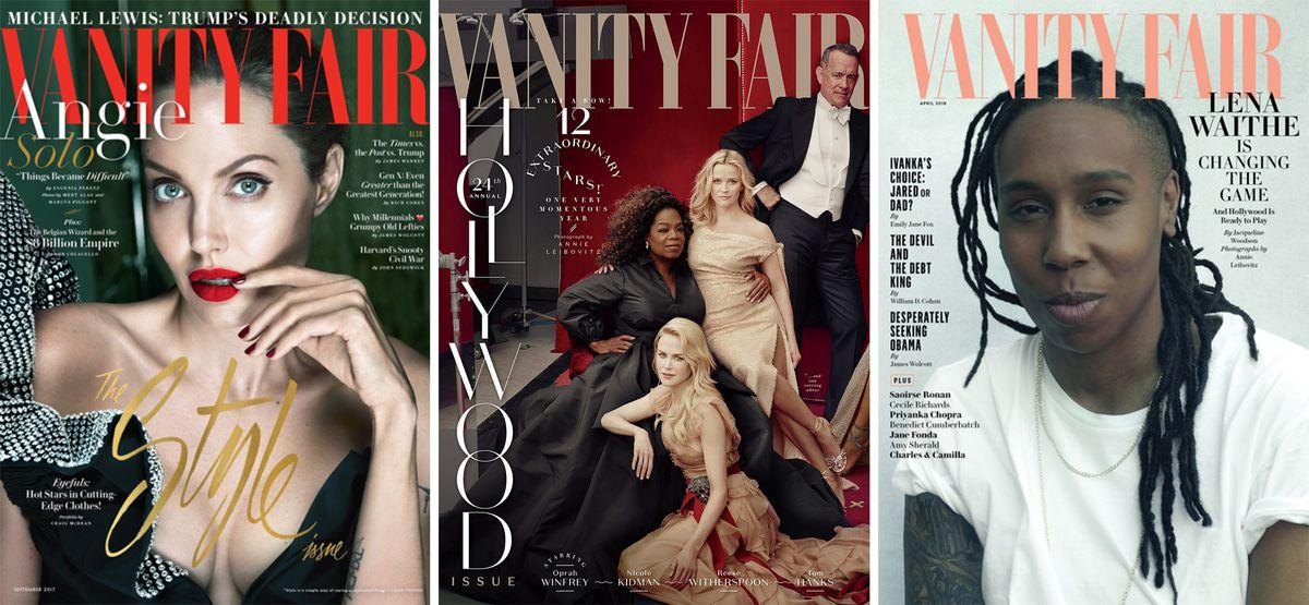 Three Vanity Fair covers