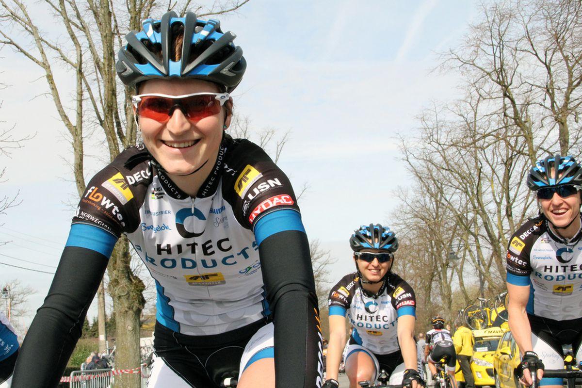 Elisa Longo Borghini before the Flèche Wallonne