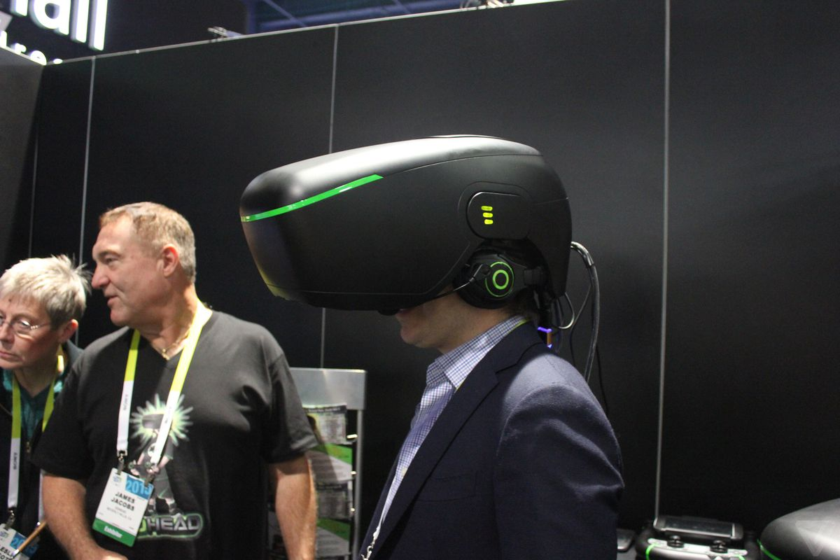 9f9090c3dfc9 Billionaire Alki David is trolling CES with an insanely terrible VR helmet