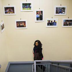 Raisa Carrasco-Velez, director of Multicultural Affairs & Community Development at St. John's Preparatory School, walks through the halls of the school in Danvers, Massachusetts on March 13, 2017.