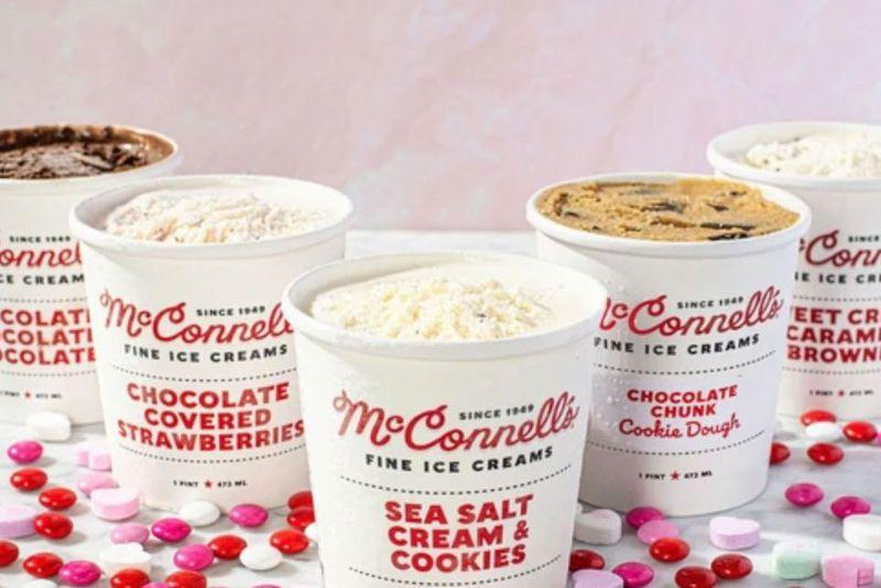Five pints of ice cream