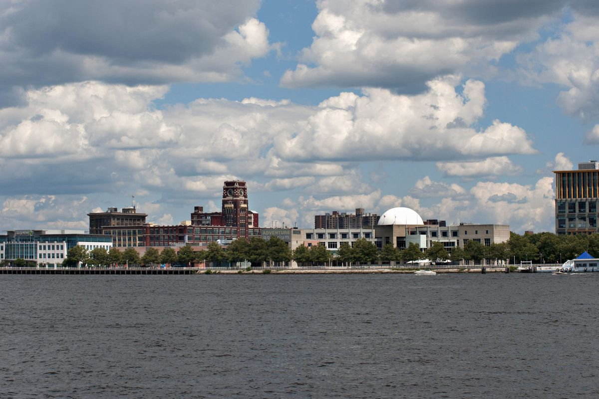 The Camden, New Jersey skyline.