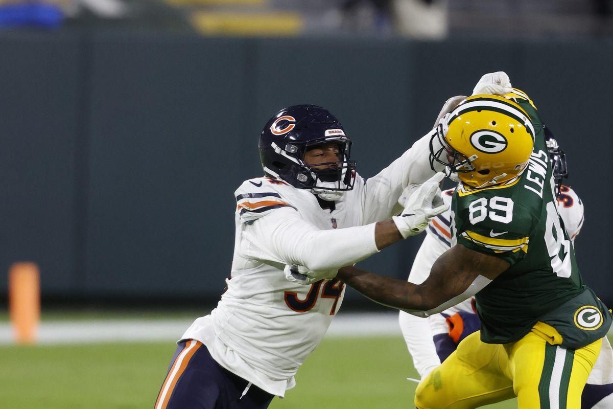 Bears outside linebacker Robert Quinn had two sacks, but also six quarterback hits, three forced fumbles and a fumble recovery last season.