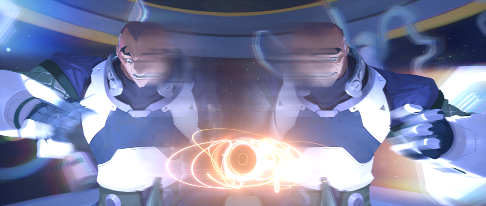 Overwatch - Sigma's black hole experiment from his origins animation