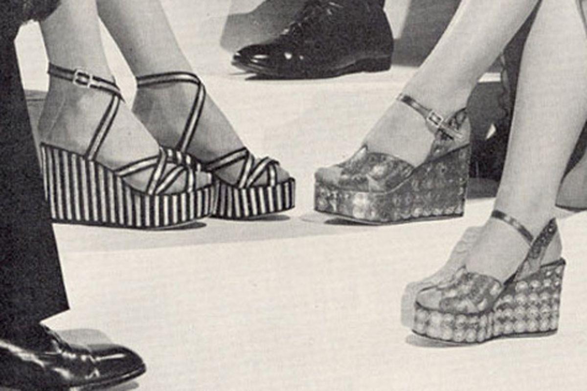 """1938 Delman ad via <a href=""""http://sheepandchick.blogspot.com/2009/07/delman-platform-evening-clogs-1938.html"""">SheepandChick</a>"""