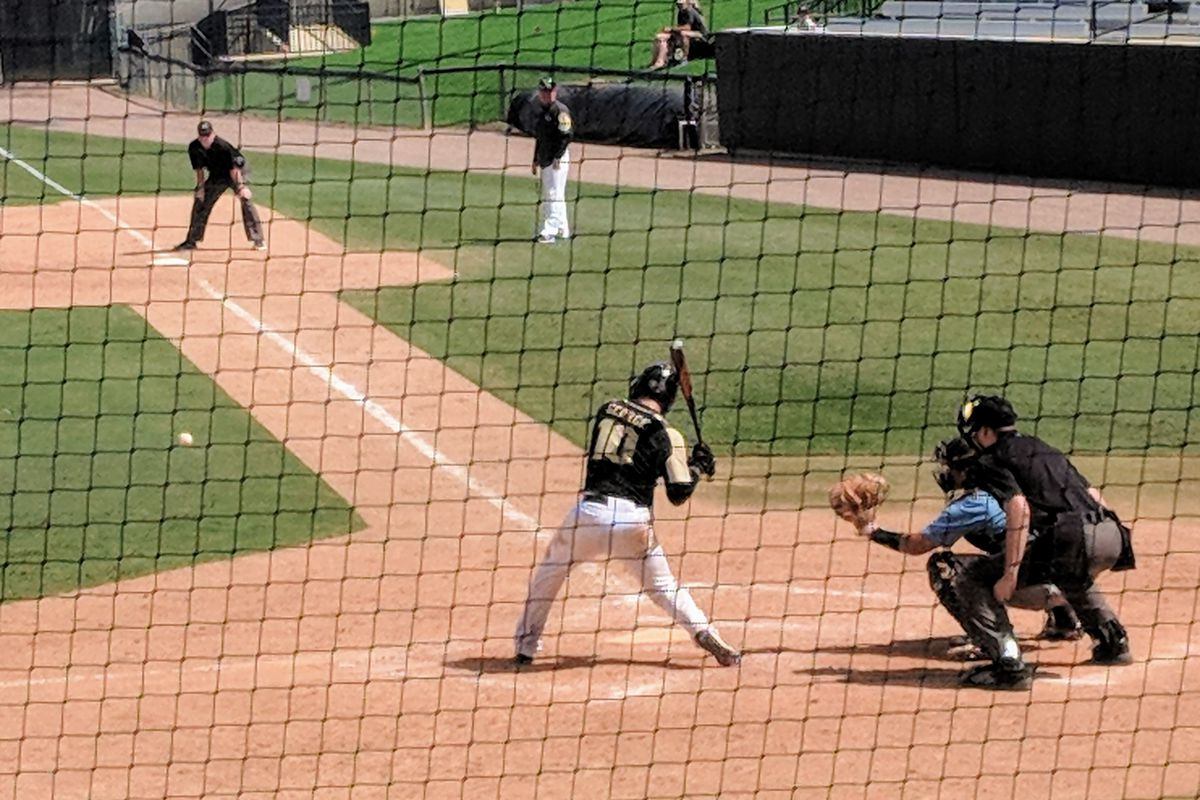 anthony george made a powerful return to ucf baseball - black & gold