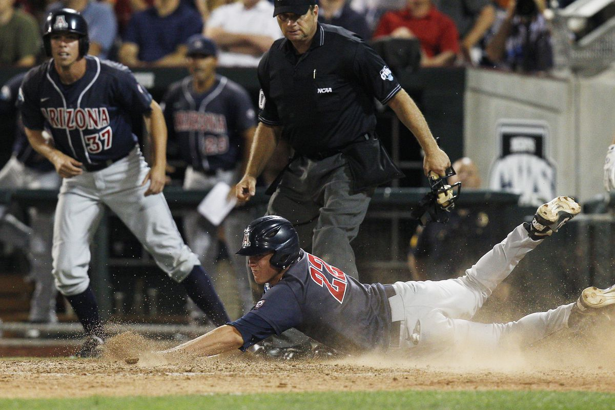 The Arizona Wildcats (shown here at the 2012 College World Series) currently lead Division I with a .342 batting average.