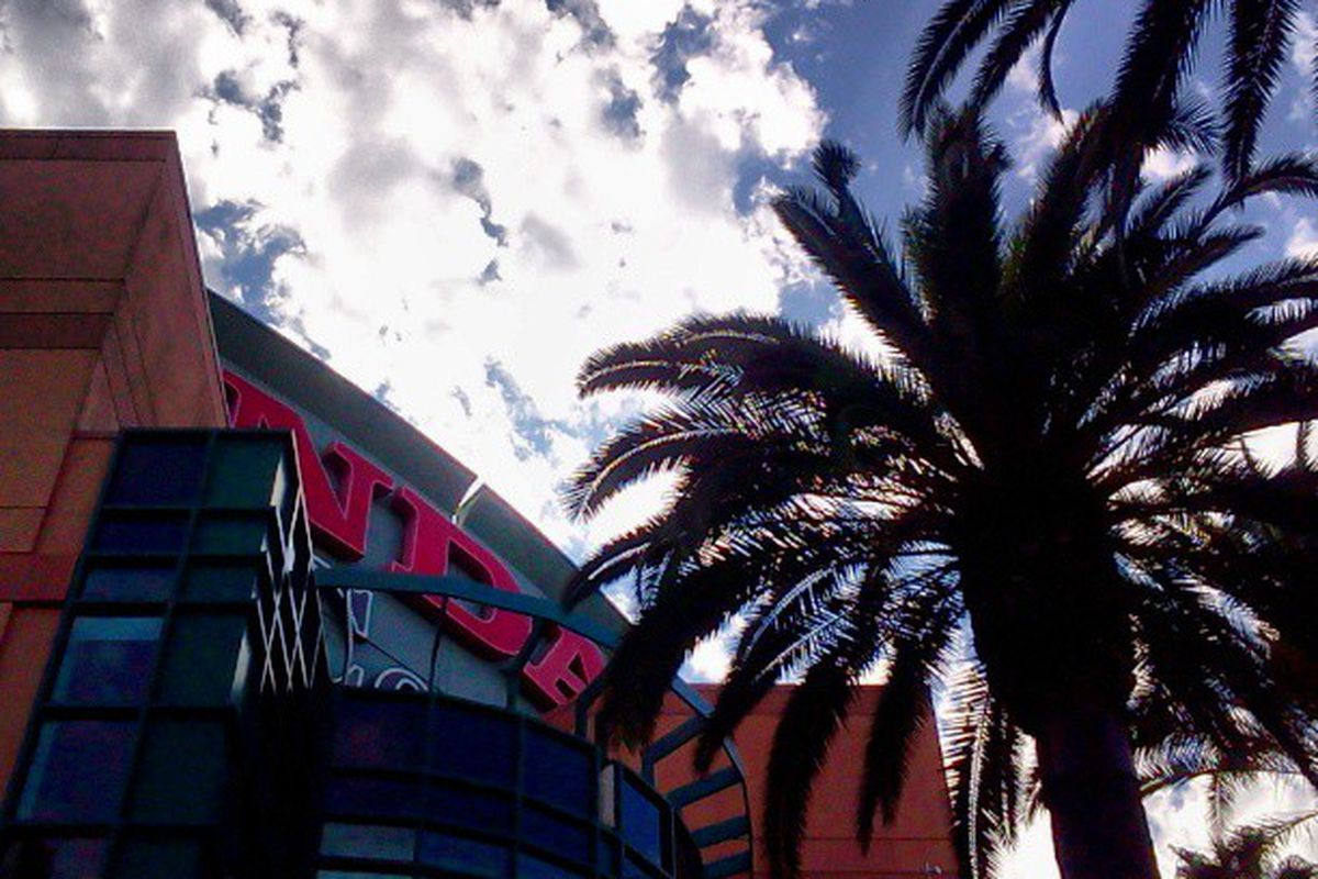 Another GameDay in Southern California...Sunset, Palm Trees, and Hockey.
