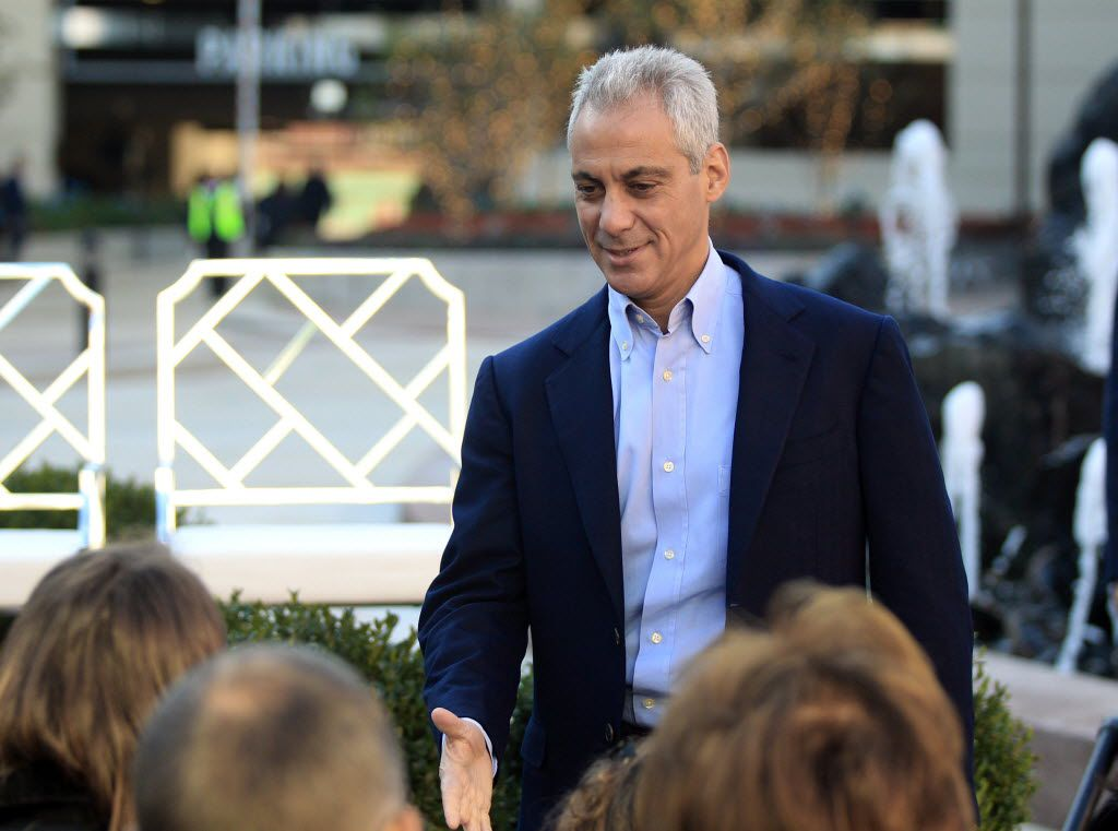 Mayor Rahm Emanuel, seen here on Friday at the opening of the New City Plaza, has been on the receiving end of insults from much more accomplished political operators than Gov. Bruce Rauner.   Kevin Tanaka / Sun Times