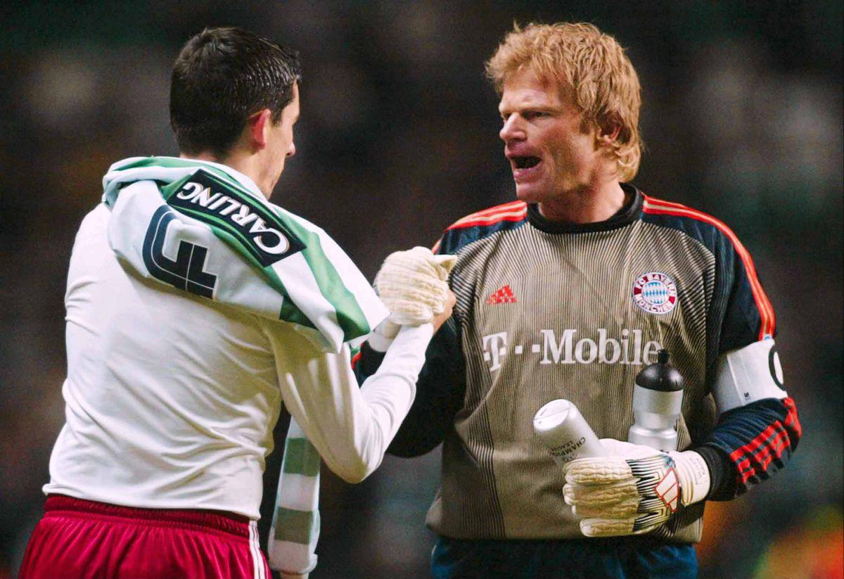 Fussball: CL 03/04, Celtic Glasgow - FC Bayern Muenchen