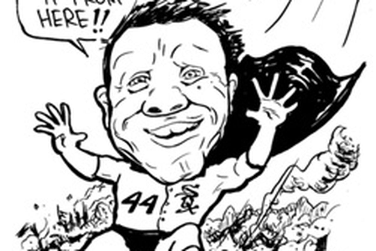 This Carl Skanberg cartoon appeared in White Sox Outsider 2010.