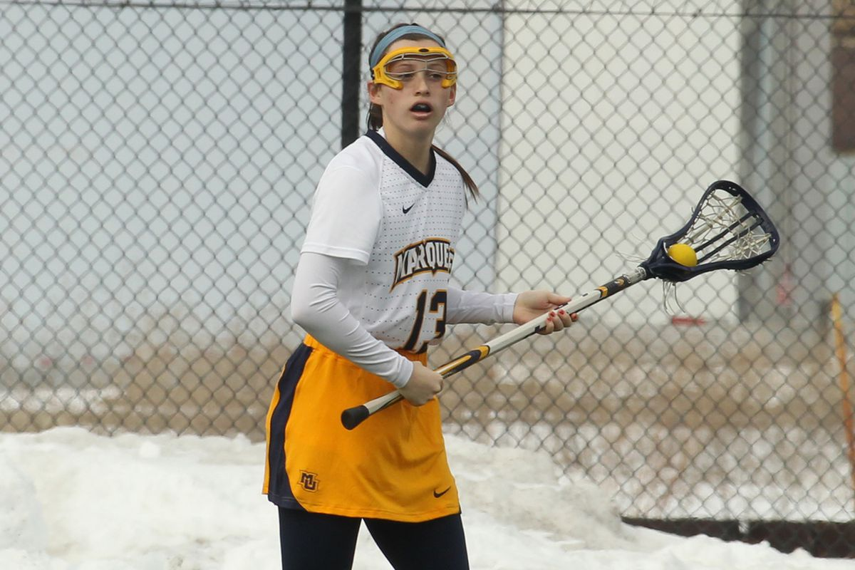 Julianna Shearer doubled her goal total for the year with a hat trick against Detroit.