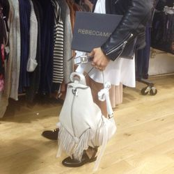 Customers gravitated towards fringe, like this Julian backpack in white for $185.
