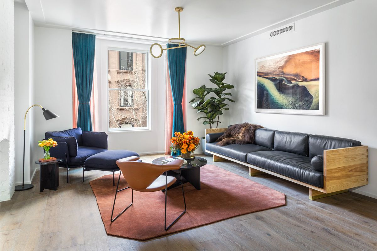 Brooklyn apartment gets chic interior design by local for In house designer