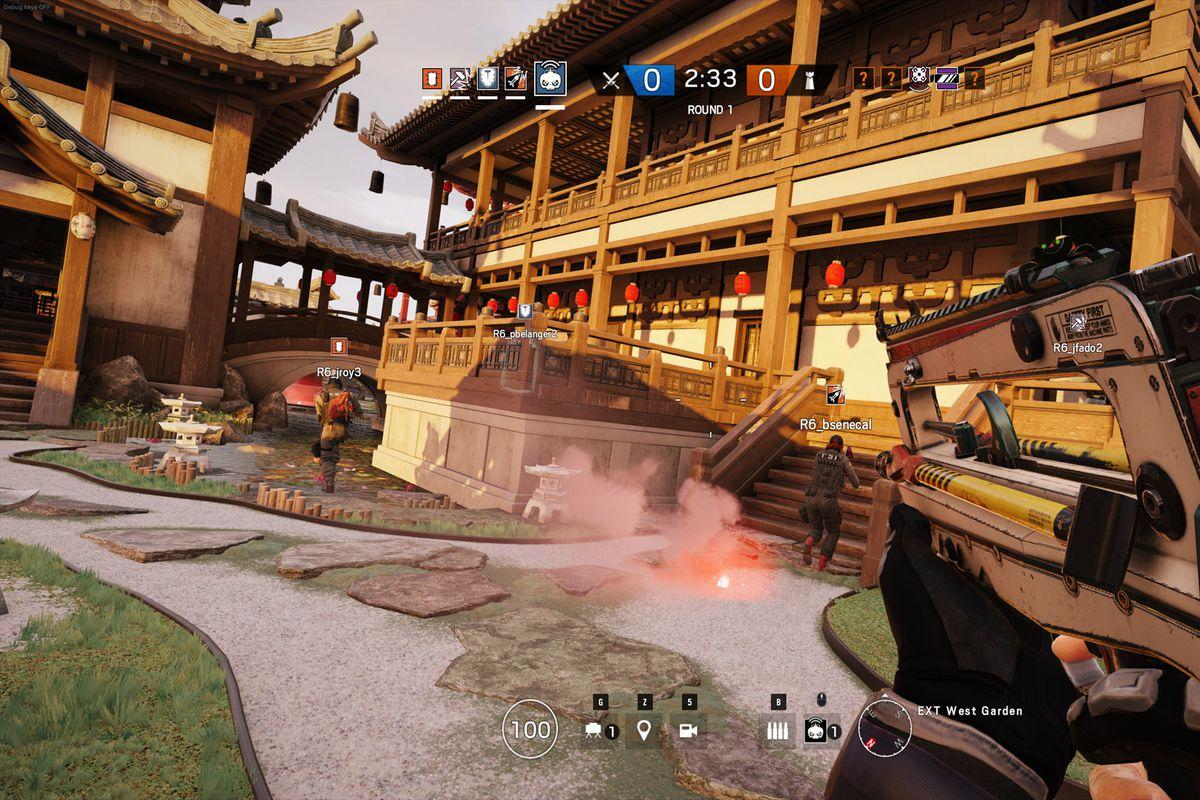 Rainbow Six Siege - action on Skyscraper map
