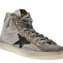 """<b>Golden Goose</b> Francy Sneaker, <a href=""""http://www.jamesperse.com/women/accessories/shoes/golden-goose-womens-francy-sneaker/viewProduct.do?productId=prod1660011&categoryId=cat930006"""">$557</a> at Golden Goose"""